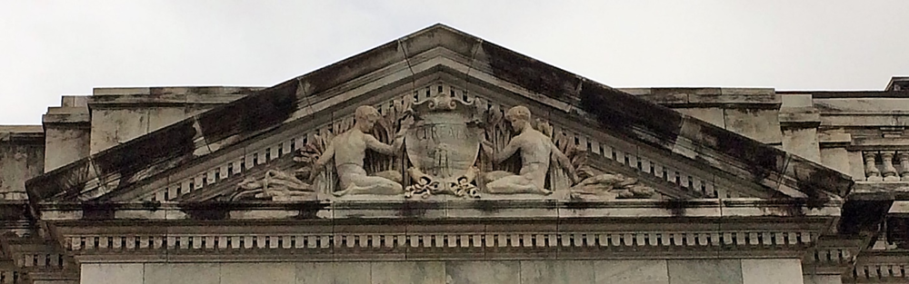 Adolph Weinman,  Cereals  (1908), Vermont Marble;   North Pediment, U. S. Department of Agriculture Whitten Building