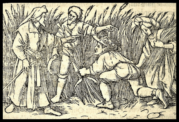Hans Holbein, Ruth and Boaz; Biblia Sacra iuxta Vulgatam (Paris, 1552); Adolf Bartels, Der Bauer in der deutschen Vergangenheit (Leipzig: Eugen Diederichs, 1900)