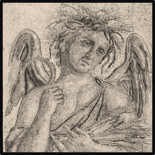Zliten Allegorical Summer Mosaic (c. 200 AD);R. Bartoccini, Guida del Museo di Tripoli (1923)
