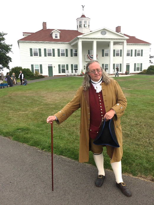 Festival Celebrity Visitor Benjamin Franklin of Philadelphia,   AKA Gregg Hardy of the Colonial Heritage Foundation
