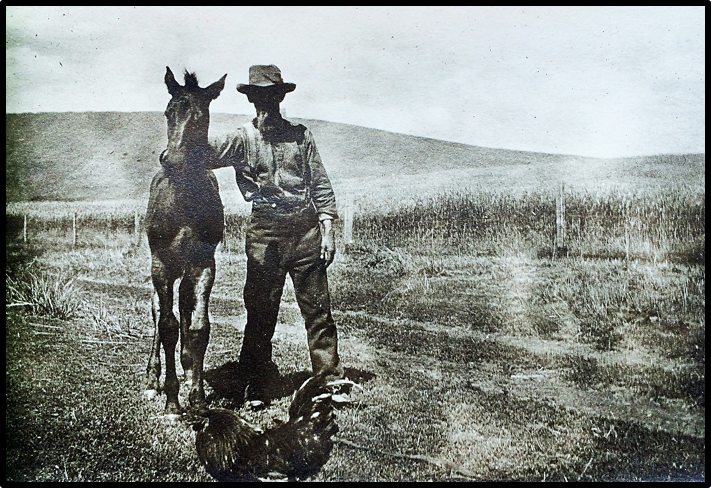 Pioneer Joe Delong and Colt (c. 1900);   Courtesy of Joe and Sara Delong