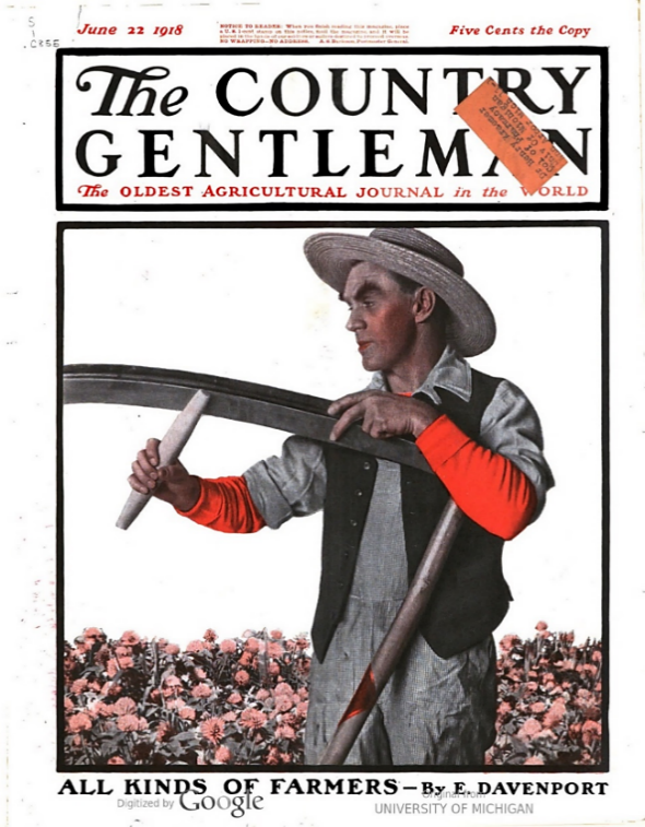 Zane Grey's  The Desert of Wheat  first appeared in a series of articles published in May and June, 1918, issues of  The Country Gentleman
