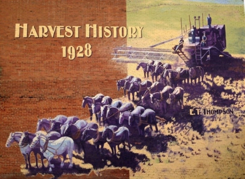 "Pat Boyer, ""E. T. Thompson Threshing Outfit"" Mural,   City of Connell, Washington"