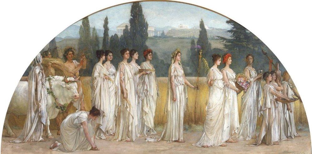 Francis Davis Millet,  Thesophoria  (1894-1897),Wikimedia Commons