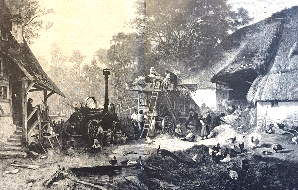Albert Kappis,  Farmyard Threshing Machine  (1885),   Columbia Heritage Collection