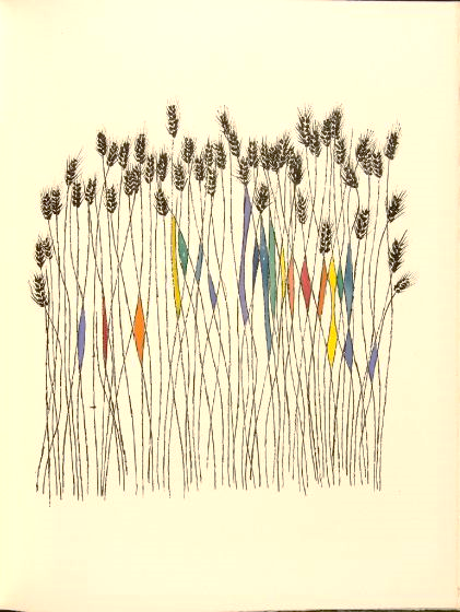 Ben Shahn,  Wheat Field  (c. 1958), From  Ecclesiastes or, The Preacher  (New York, 1971), 8 ⅞ x 12 inches