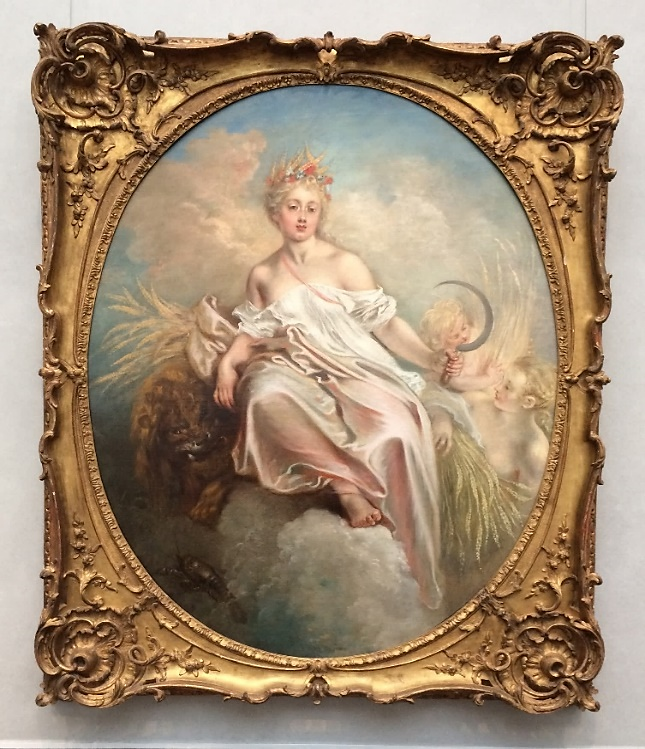 Jean-Antoine Watteau,  Ceres  (c. 1718); Commissioned for Pierre Crozat's Paris Palazzo, oil on canvas, 55 ¾ x 45 ½ inches; Samuel H. Kress Collection, National Gallery of Art, Washington, D. C.
