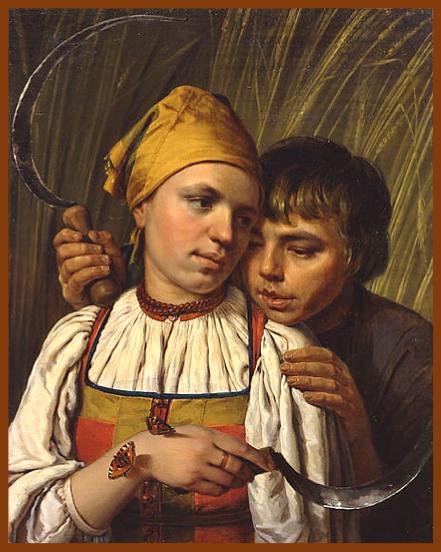 Alexei Venetsianov, The Reapers (c. 1828), State Tretyakov Museum, Moscow, Russia