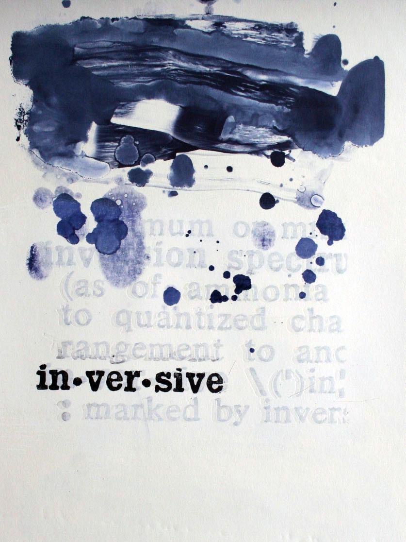 "Linoleum, Monotype, and Gesso 12""x16"", 2016"
