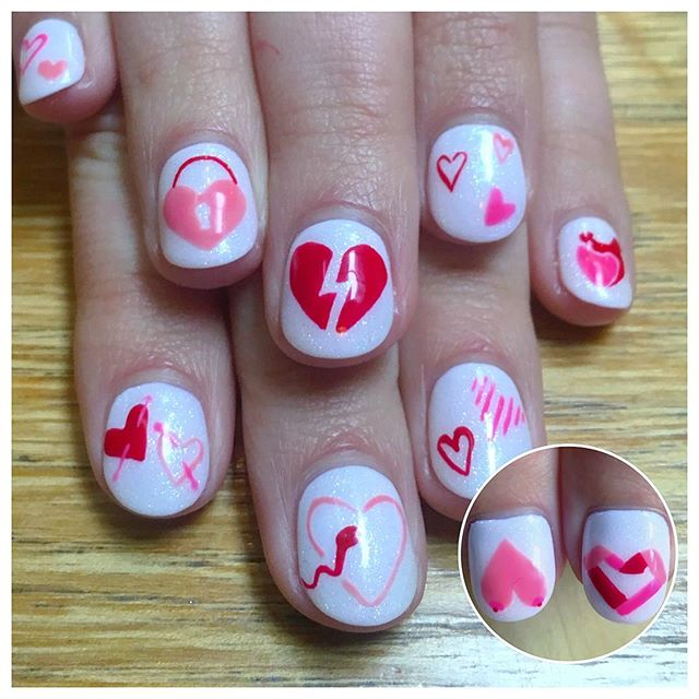 @ciellecharron Got her nails done just for the show! She'll be sporting them at the #69valentines opening tonight, at @landpdx 6- 9pm