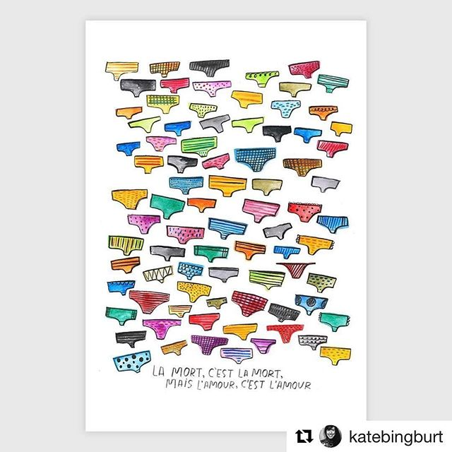@katebingburt's tribute to Underwear for #69valentines is available at @buyoly (link in bio) !