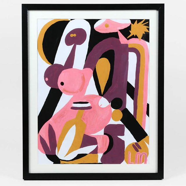 We can't believe this is the last weekend of #69valentines! If you haven't seen the show yet, stop by @landpdx through Sunday to check out all the amazing art, like this sexy little number by @llewmejia! If you can't make it in person, visit @buyoly (link in bio) to see all the pieces, and maybe pick something up for yourself 💋