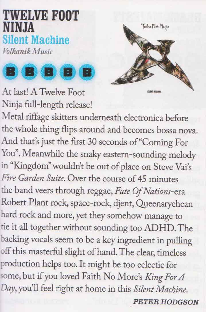 Blunt Magazine 5 Star Review (Oct 2012)