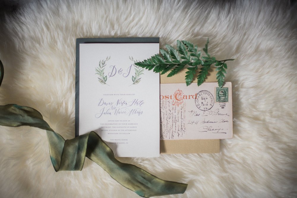 Fresh & Green Wedding Invitation Suite