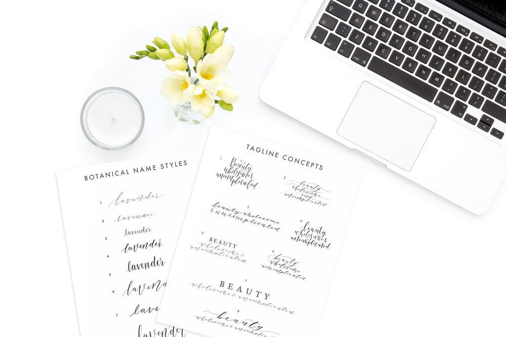 Copy of Vector Botanical Names, Custom Client Work