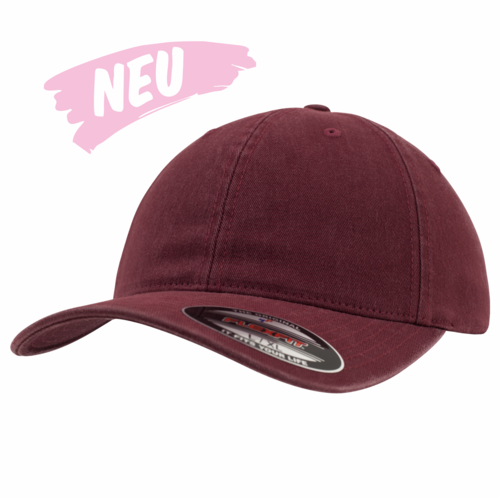 36ac89d87fb Flexfit Garment Washed Cotton Dad Cap - Maroon — Berlin Snapbacks