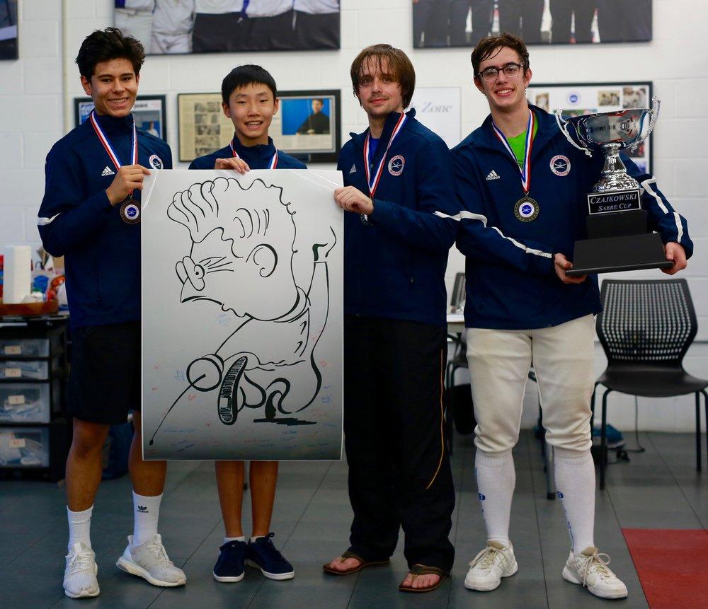 Finalists Alessandro, Kyle, Littleton & Nicolas