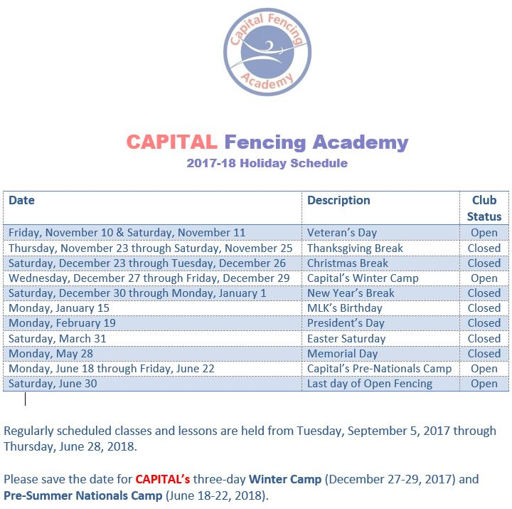 Capital Fencing Holiday Schedule.JPG