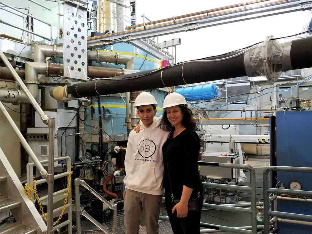 Standing in front of the Alcator C-Mod fusion reactor with my mother