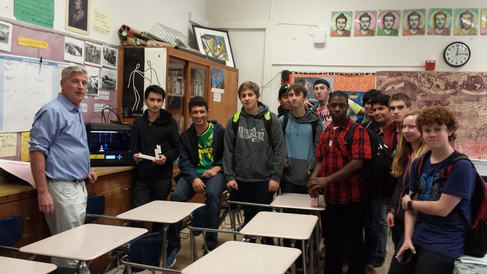 Members of the Berkeley High 3D Modeling and Printing Club