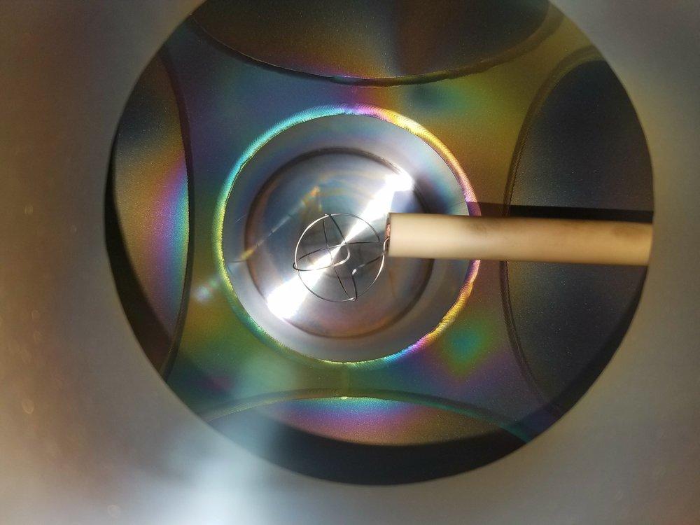 Diffraction Due to Tungsten Deposition