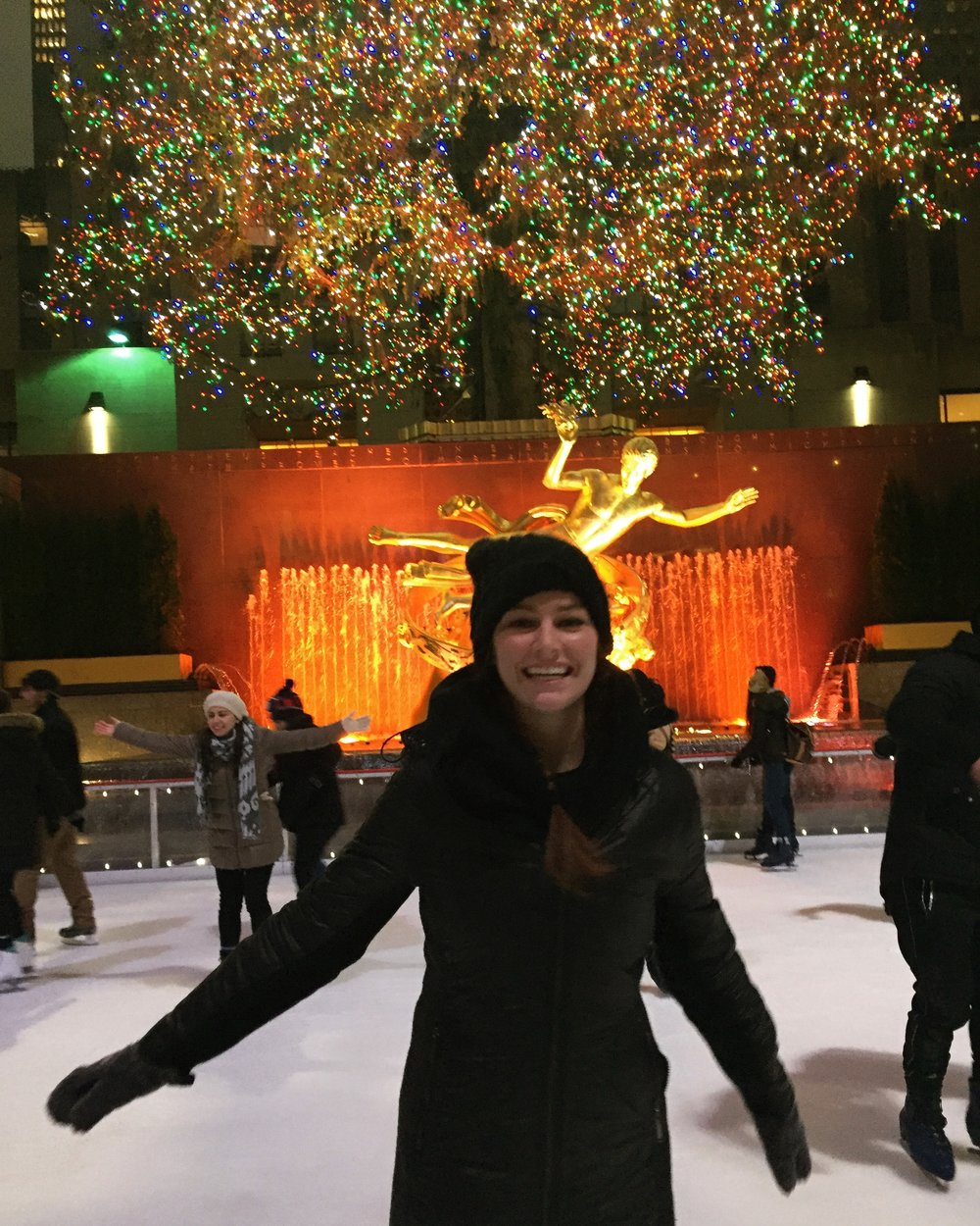 Iceskating at Rockefeller Center