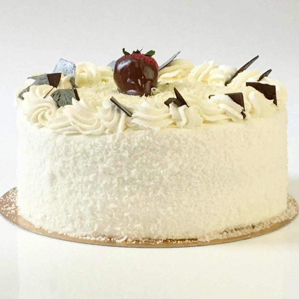 Coconut cake torte