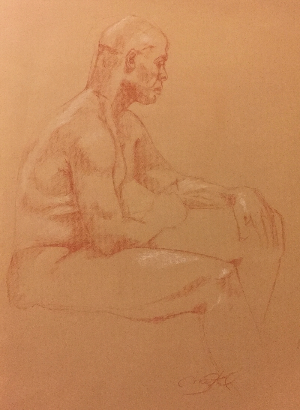 Sitting Study  | Charcoal Pencil | 2011