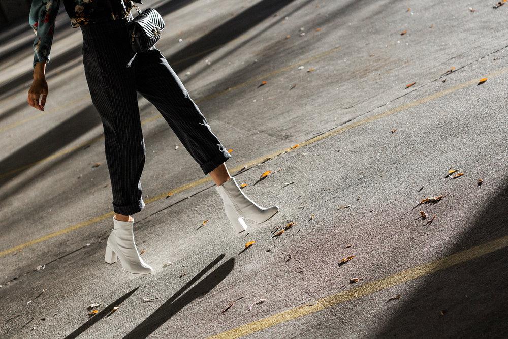 Hannah's Outfit Details: Sweater: Goodwill, Skirt: Goodwill, Boots: TJMaxx, Purse: Target, Belt: Khol's, Sunglasses: Rue21
