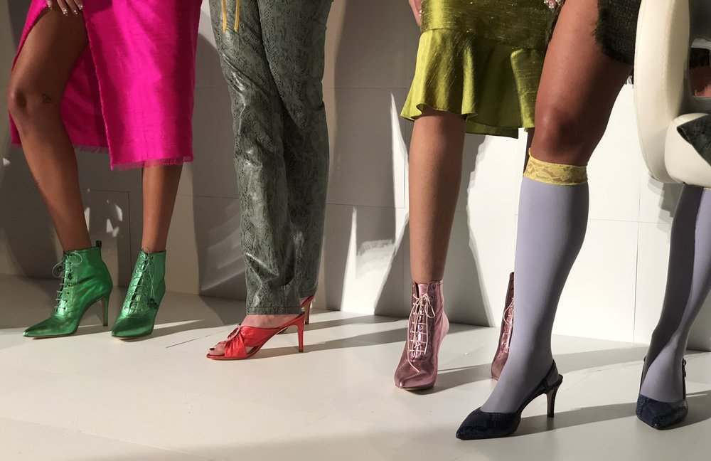 Clio Peppiatt SS19 presentation; Shoes by Kalda