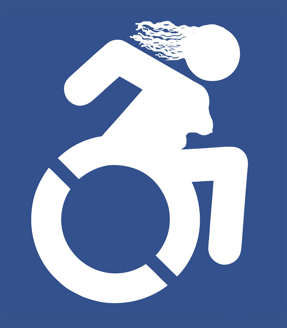 - I created these disability protest signs in collaboration with Katherine Sherwood and Tamar Beja for the Disability Contingent of the San Francisco & Oakland Women's Rights March of January 2017. We changed the wheelchair symbol to be a woman wheelchair rider and added slogans relevant to both the disability community and November election as part of a larger movement to crip the Women's March.