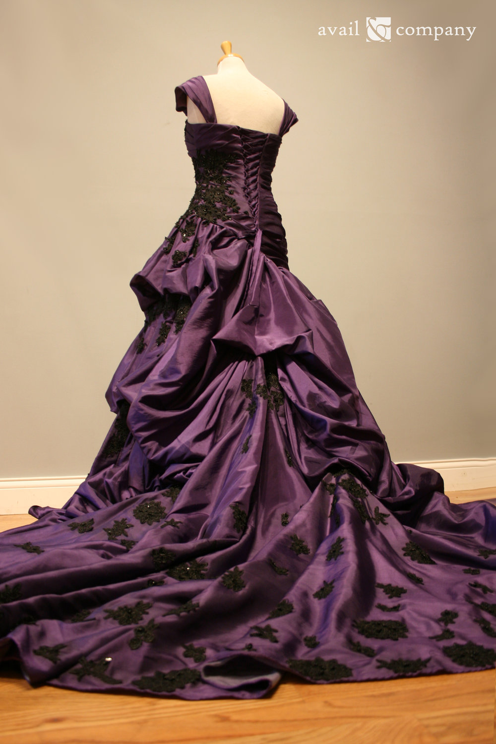 !Purple Wedding Dress Gothic Black Lace 003-0003.jpg