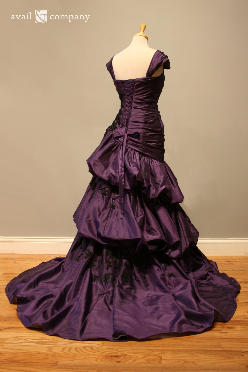 !Purple Wedding Dress Gothic Black Lace 005-0005.jpg