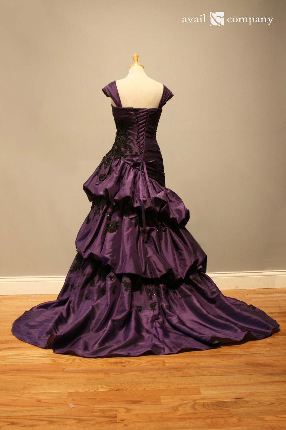 Beautiful offbeat purple colored wedding dress. — Avail & Company