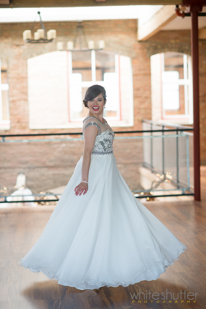 See Jessica's exquisitely beaded wedding gown with illusion and soft floating chiffon.  Thanks to Jessica and  White Shutter   Photography  for allowing us to share these images.