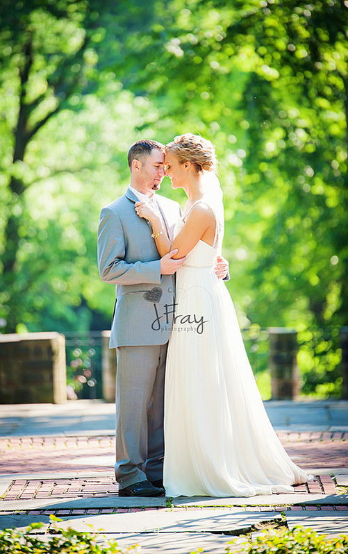 See Stephy's beautiful soft chiffon gown with beaded and floral details.  Thanks to Stephy and  J   Fray   Photography  for allowing us to share these images.