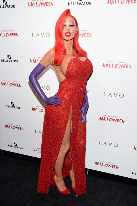 2.) Heidi Klum outdoes herself with this spot on rendition of Jessica Rabbit