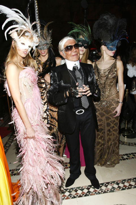 6.) Roberto Cavalli as fashion icon Karl Lagerfeld (Saman's go-to costume)