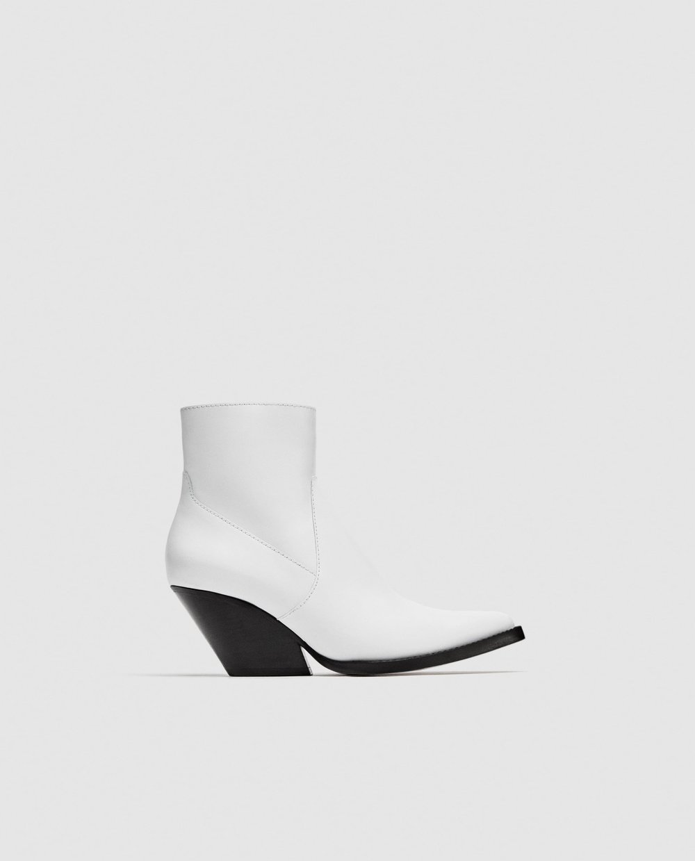 White Zara Ankle Boots