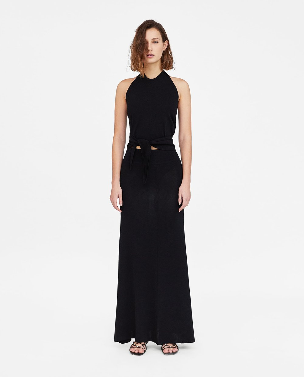 Minimal Halter Top and Skirt