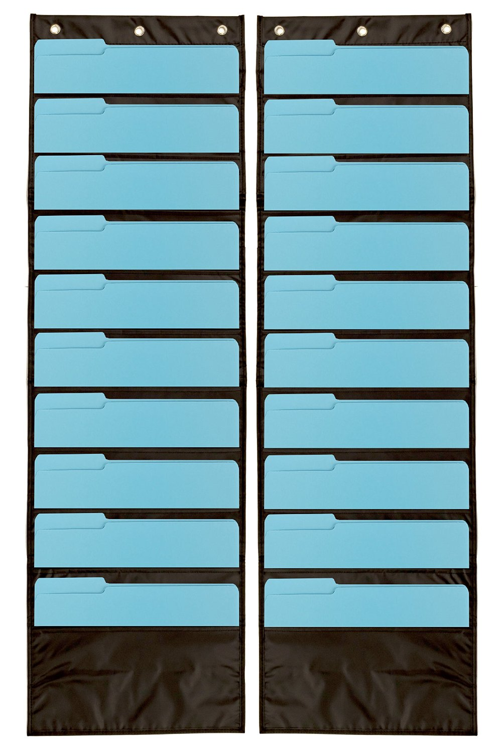 & Black Wall Pocket Storage Charts | Perfect For Classroom Use