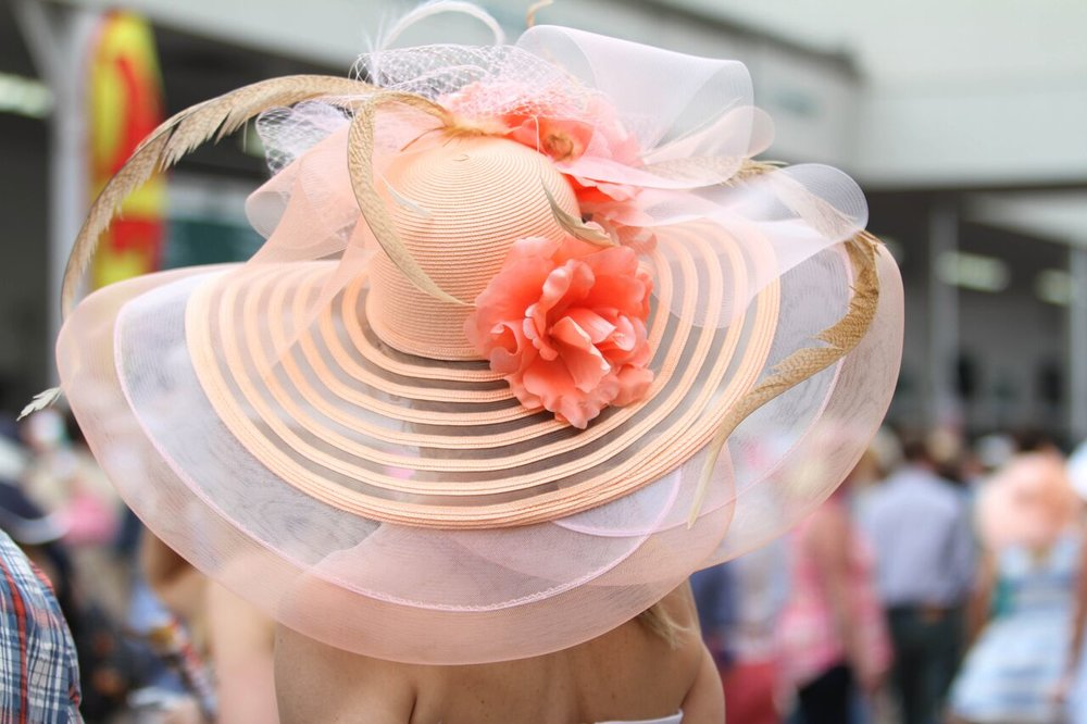 Large, stylish hats are a frequent sight at the Kentucky Derby. (Photo courtesy: Kentucky Derby Museum)