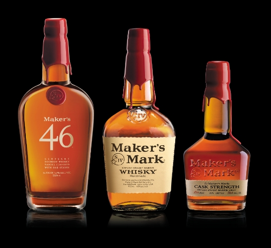 Maggie Samuels, wife of Maker's Mark creator Bill Samuels Sr., is credited with establishing the brand of Maker's Mark, including the distinctive bottles, the torn appearance of the labels and the hand-dipped red wax.