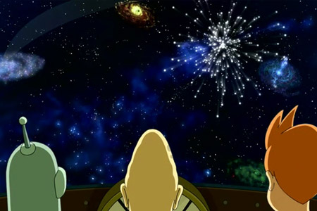 Futurama's  crew enjoys the end of days