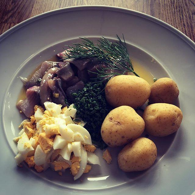 Mstjessill m. brynt smör, hackat ägg & gräslök! #bromma #lunchcottinosskafferi #dagenfisk #husmanskost