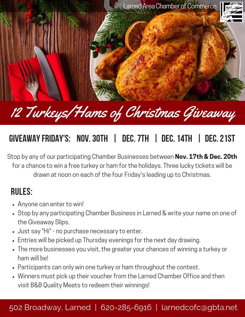 2018 12 Turkeys Hams of Christmas Giveaway.jpg