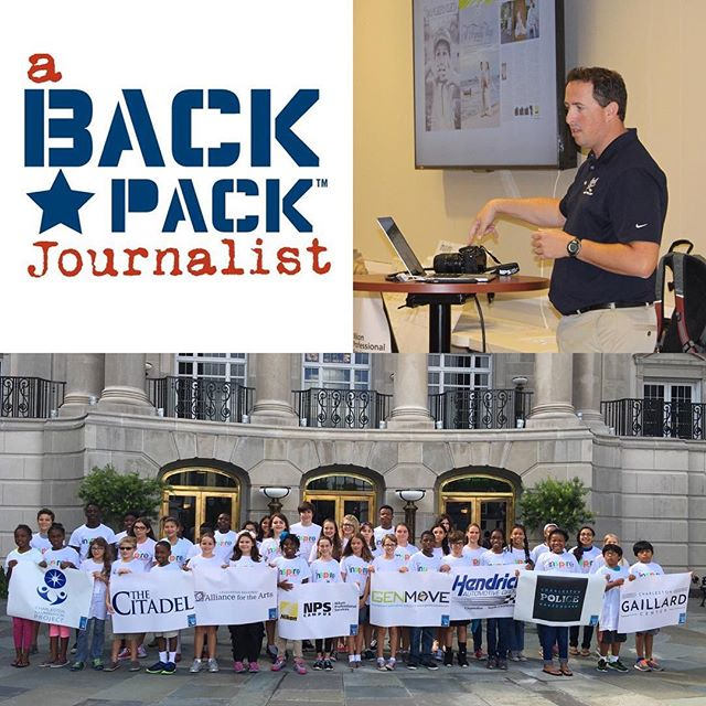 I had an awesome time talking to young film makers participating in the A Backpack Journalist program at the Gaillard Center. I know I met some future Emmy winners!