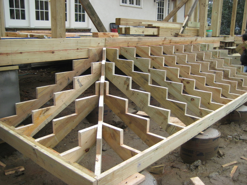 Framing for the main deck stairs