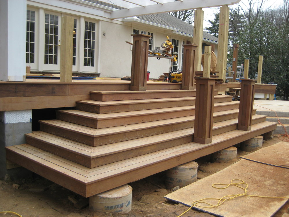 Main deck stairs with ipe decking installed
