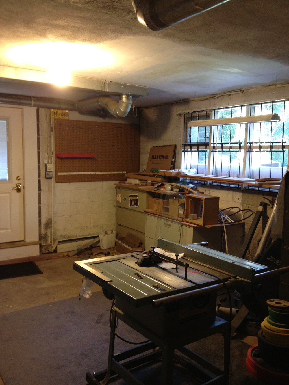Here is another  before  shot of the original workshop.